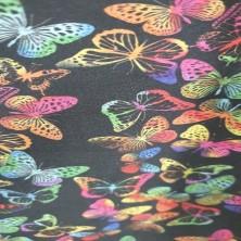Algodón estampado de Mariposas
