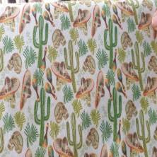 Algodón estampado de Calaveras con cactus