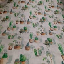 Algodón estampado de Cactus