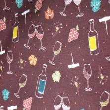 Algodón estampado de Vino