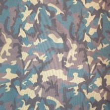 Algodón estampado de Camuflaje militar verde