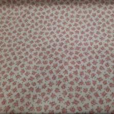 Algodón estampado con flores  (rubino)