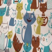 Algodón estampado de Gatos 2