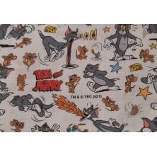 Algodón estampado Tom y Jerry