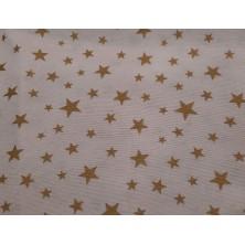 Loneta estampado estrellas doradas