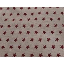 Loneta estampado estrellas rojas