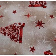 Loneta con estampado de navidad