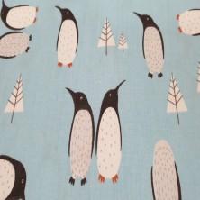 Algodón estampado de Pingüinos