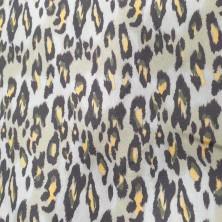Algodón estampado de Animal Print color marron fondo blanco