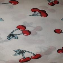 Algodón estampado de Cerezas