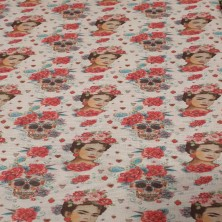 Algodón estampado de Frida...